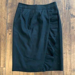 Kate Spade black ruffle pencil skirt